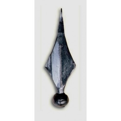pointe-fer-de-lance-en-acier-forge-barreau-rond-carre-hauteur-160-decoration-p0401