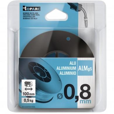 FIL PLEIN ALU ALMG5 Ø 0,8 MM - BOBINE PVC - S100 / 0,5 KG GYS