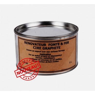 Cire noire pour rénovation fonte et fer (1L)