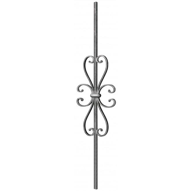 balustre acier avec l ment d coratif en fer forg www. Black Bedroom Furniture Sets. Home Design Ideas