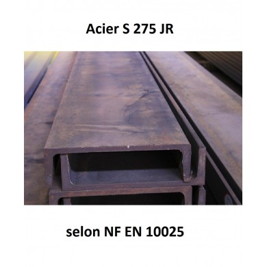 POUTRELLE UPE ACIER LAMINE LINTEAU POUTRE FER S235JR - longueur 1 mètre