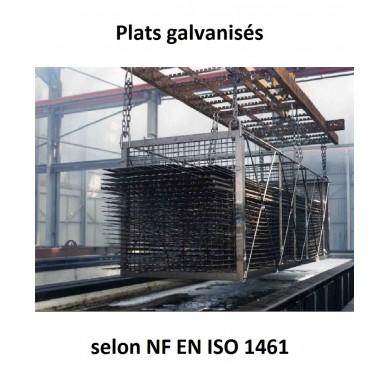 PLAT ACIER LAMINÉ GALVANISÉ A CHAUD BARRE FER PLATE - longueur 1 mètre