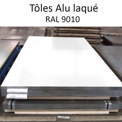 TÔLE ALUMINIUM LAQUÉ BLANC RAL 9010
