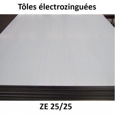 TÔLE ACIER ÉLECTROZINGUÉ ÉPAISSEUR 0,8 À 3