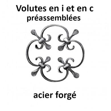 VOLUTES EN I ET EN C PRÉASSEMBLÉES ACIER FORGE