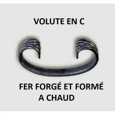 VOLUTE EN C - FER PLAT ACIER FORMÉ ET FORGÉ A CHAUD