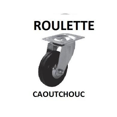 ROULETTE MANUTENTION A PIVOT CAOUTCHOUC