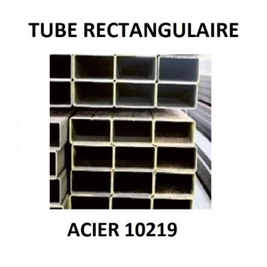 TUBE RECTANGULAIRE ACIER 10219 FER - délai 10 jours - longueur 1 mètre