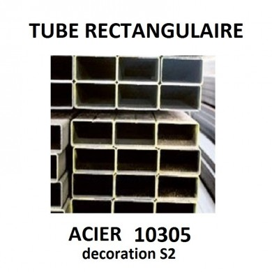 TUBE RECTANGULAIRE ACIER 10305 MINCE DECORATION S2