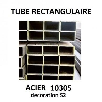 TUBE RECTANGULAIRE ACIER 10305 MINCE DECORATION S2 - longueur 1 mètre