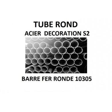 TUBE ROND ACIER DECORATION BARRE FER RONDE 10305 S2
