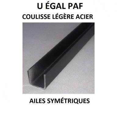 U ÉGAL PAF COULISSE LÉGÈRE ACIER AILES SYMÉTRIQUES - longueur 1 mètre