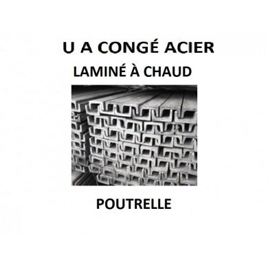 U A CONGÉ ACIER LAMINÉ CHAUD BARRE DE FER POUTRELLE - longueur 1 mètre
