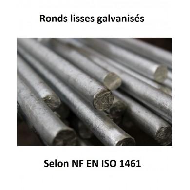 ROND SERRURIER PLEIN ACIER GALVANISÉ BARRE RONDE - longueur 1 mètre