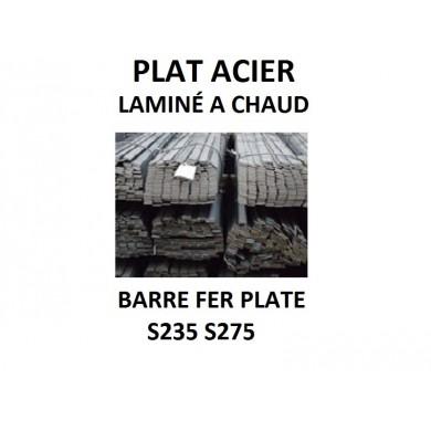 PLAT ACIER ETROIT LAMINÉ PETITES SECTIONS PLATES - longueur 1 mètre