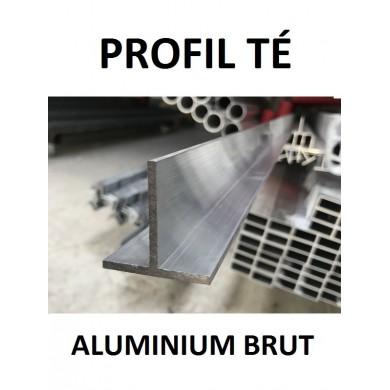 PROFIL TÉ ALUMINIUM BRUT - longueur 1,5 mètres