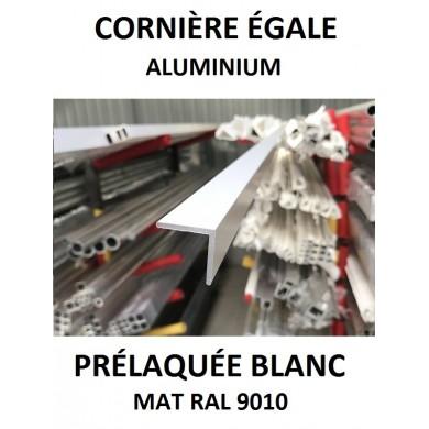 CORNIÈRE ÉGALE ALUMINIUM PRÉLAQUÉE BLANC MAT RAL 9010