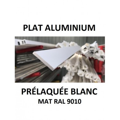 PLAT ALUMINIUM PRÉLAQUÉE BLANC RAL 9010  1,5 mètres