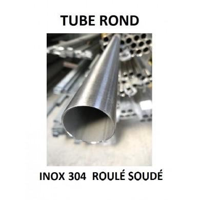 TUBE ROND INOX 304 ROULÉ SOUDÉ
