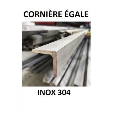 CORNIÈRE ÉGALE INOX 304 - longueur 1 mètre