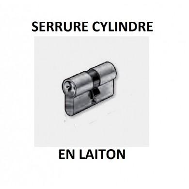 SERRURE CYLINDRE - 4 GOUPILLES - EN LAITON