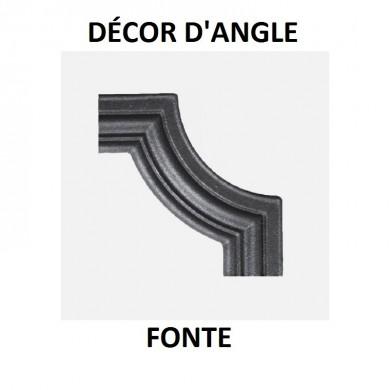 DÉCOR D'ANGLE FONTE - 95x35 OU 125X45 - ÉPAISSEUR 16 ou 12