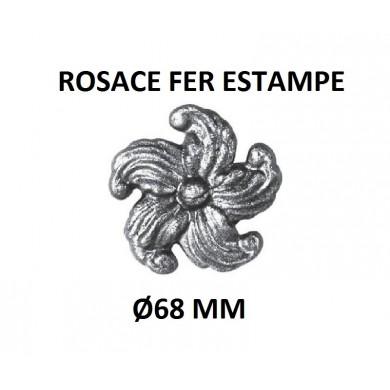 ROSACE FER ESTAMPE - Ø68 MM - EPAISSEUR 10 MM
