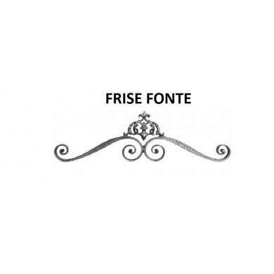 FRISE EN FONTE ELEMENT PORTAIL GRISE - 260x840 MM