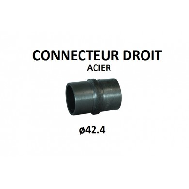 CONNECTEUR DROIT, TUBE ROND ACIER, ø42.4 MM