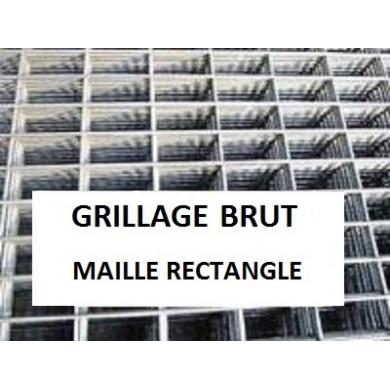 GRILLAGE SERRURIER ACIER BRUT MAILLE RECTANGULAIRE