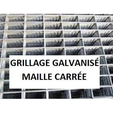 GRILLAGE SERRURIER ACIER GALVANISÉ MAILLE CARRÉE ACIER GALVANISÉ