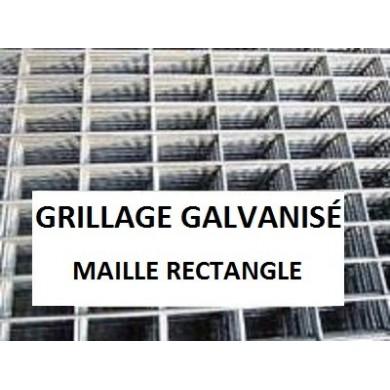 GRILLAGE SERRURIER MAILLE RECTANGULAIRE GALVANISÉ
