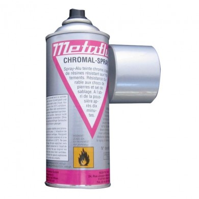 SPRAY CHROMAL ARGENT CHROME - QUALITÉ PRO - REVETEMENT METALLIQUE