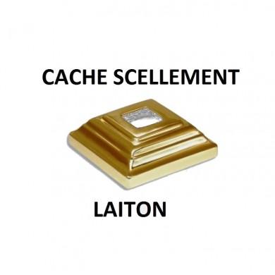 CACHE SCELLEMENT CARRÉ EN  LAITON POUR BARREAU CARRÉ