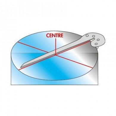 équerre à centrer 170 mm INOX www.zabarno.com schéma