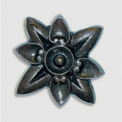 fleur-etoile-avec-filetage-fer-fonte-acier-diametre-85-taraudee-m5-decoration-C0241