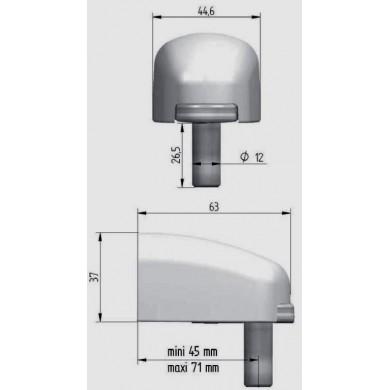 gond-a-visser-inox-modulo-diametre-12-reglable-cache-noir-avec-cotes-P6702
