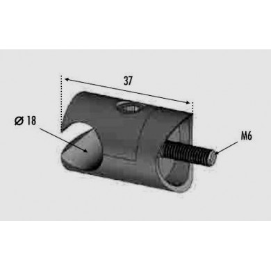 pince-profil-diametre-18mm-fixation-sur-tube-diametre-42mm-inox-304-avec-cotes-R0060