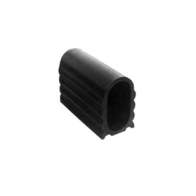 EMBOUT POUR TUBE OVALE 40x20 PLASTIQUE PEBD NOIR