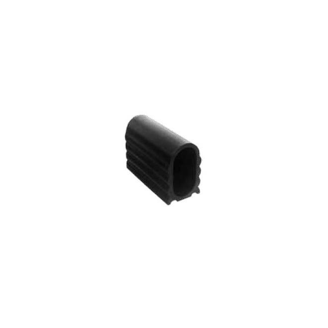 embout pour tube ovale 40x20 plastique pebd noir www zabarno. Black Bedroom Furniture Sets. Home Design Ideas