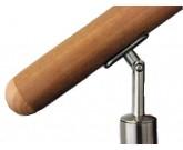 Main courante bois et inox : embout et support de fixation