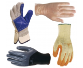 GANTS TEXTILES CUIRS ANTI COUPURES USAGE UNIQUE QUALITE PROFESSIONNELS