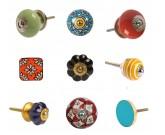 Boutons céramiques à motifs à sujet floral et unis - www.zabarno.com