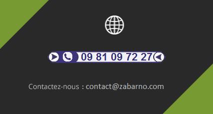 téléphone et adresse email zabarno.com